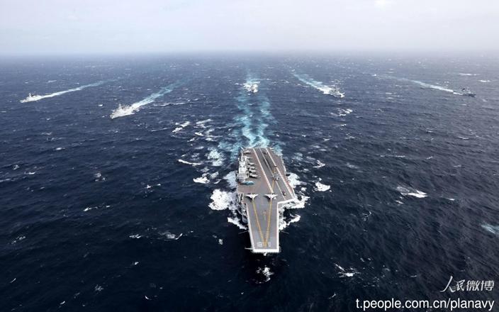 中國航母戰艦群