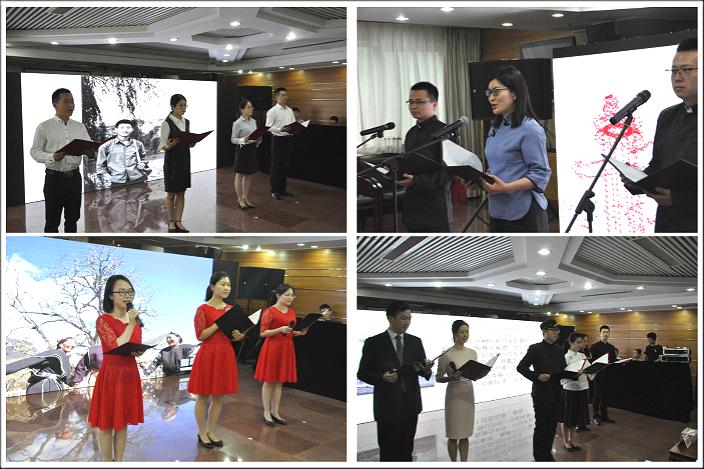 朗誦比賽參加者來自港澳辦不同部門