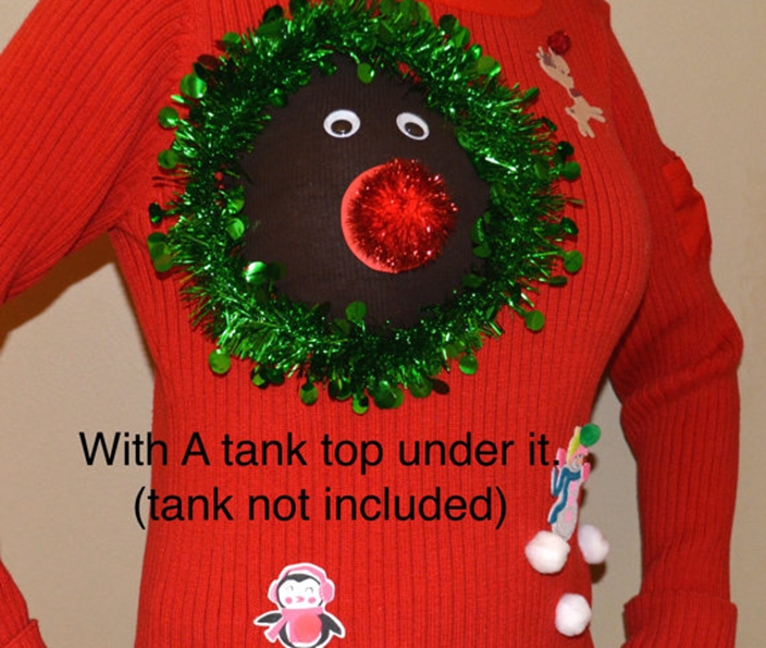 Tackiest Trends Of Wearing Ugly Christmas Sweater By Exposing
