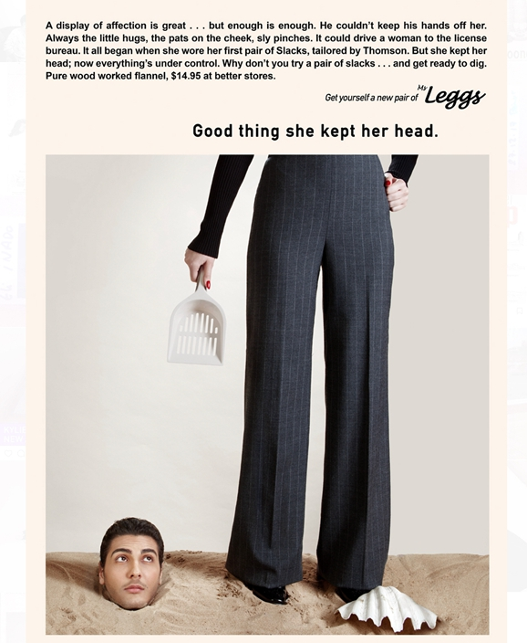 Artist inverted gender roles in sexist Ads to voice for