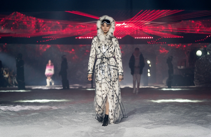 55591c23dda A model wears fashion from the Philipp Plein collection during Fashion Week  in New York