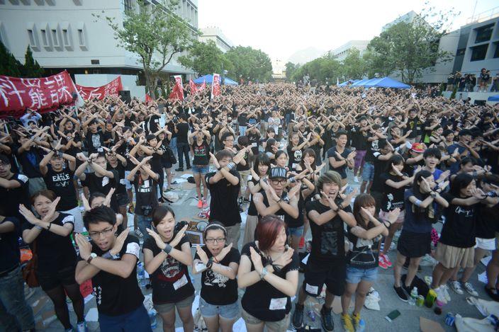 2012年反國教罷課集會﹝資料圖片﹞