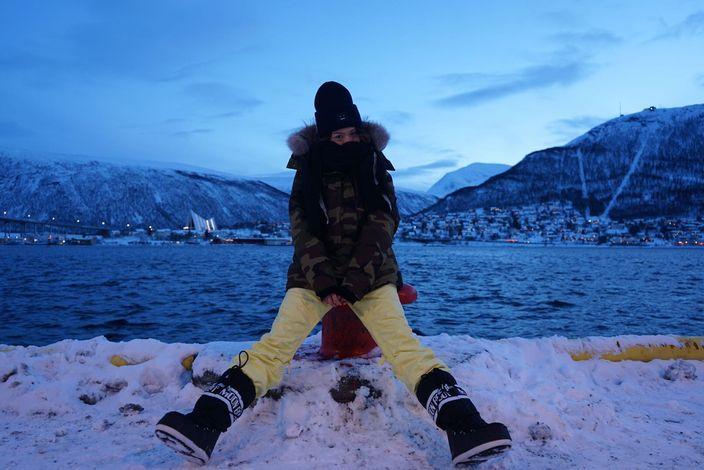 挪威冬天氣溫零度以下,周秀娜着夠六件衫四條褲。
