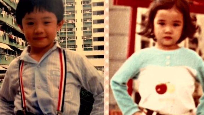 張繼聰晒自己同謝安琪的童年照。