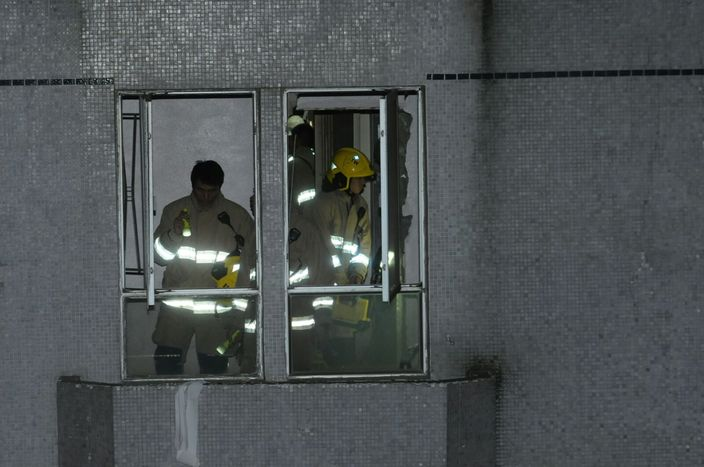 消防調查事故原因。