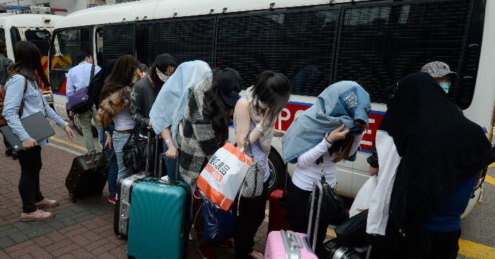 獵黃行動拘捕多名女子。 資料圖片