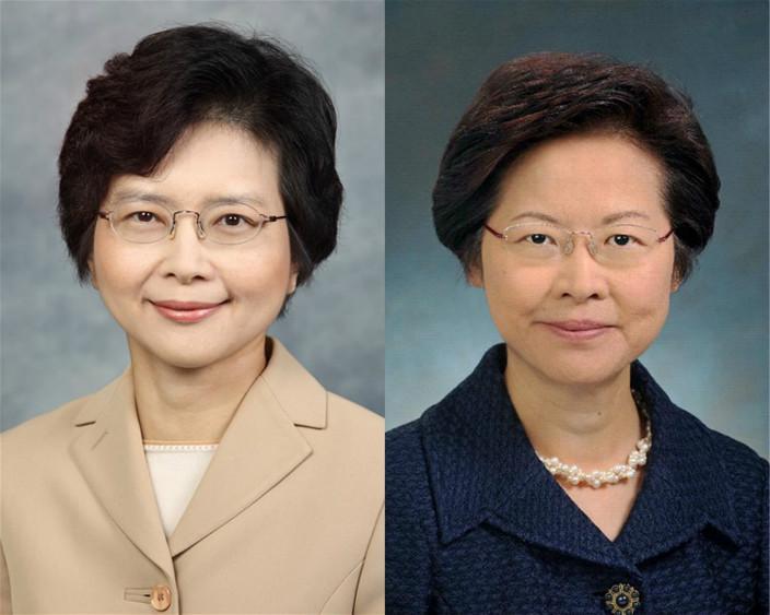 丁葉燕薇(左)、林鄭月娥(資料圖片)