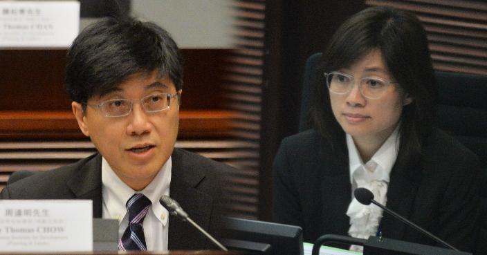 (左)周達明、(右)謝曼怡 (資料圖片)