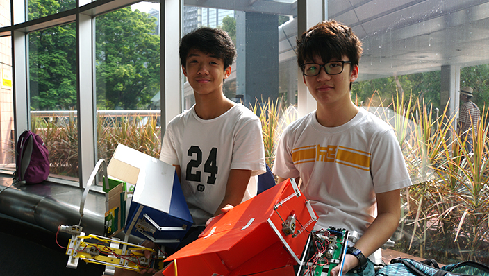 何文田官立中學近年在機械搶包山比賽均屢獲佳績