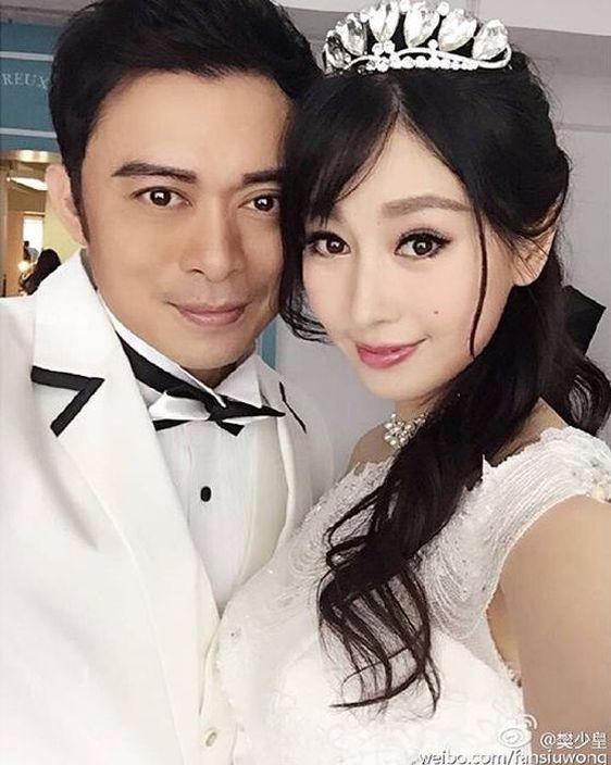 賈曉晨2015年同樊少皇結婚。(網上圖片)