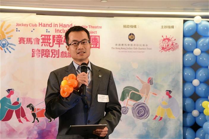 香港賽馬會慈善及社區事務執行總監張亮話:「藝術是平等的」。