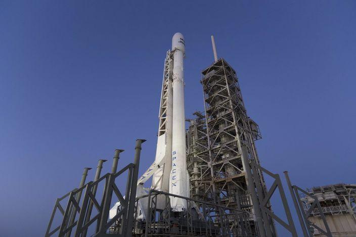 SpaceX 獵鷹九號火箭(AP圖片)
