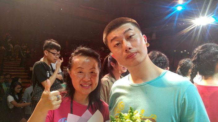 協青社會長區璟智(左)和主角阿零(右)合照