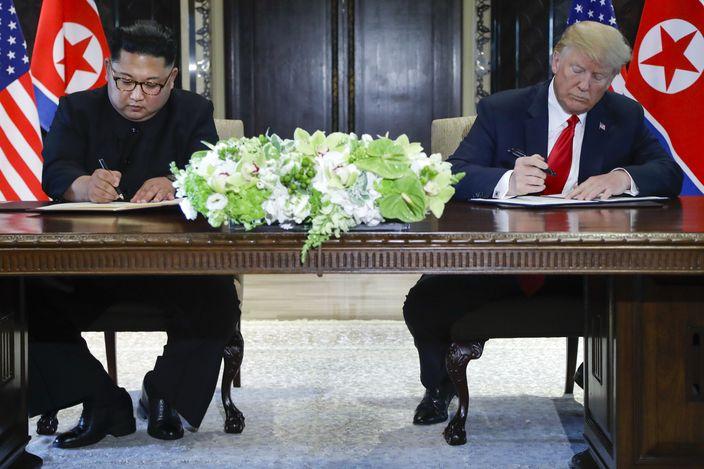 美國北韓簽署聯合聲明