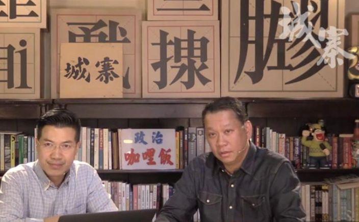 劉細良(右)在節目中向杜汶澤道歉。