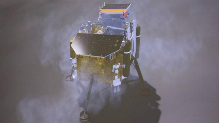 嫦娥四號是首個發陸月背的人類探測器。