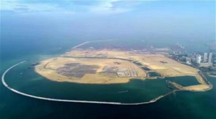 """圖: 卡可倫坡港口""""未來之城""""俯瞰"""