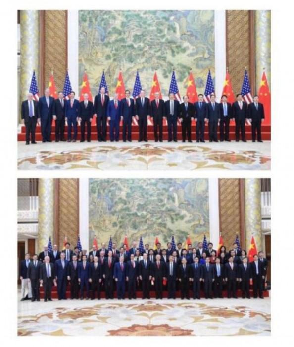 中美貿易代表團的大合照