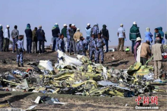 埃航墜機後的殘骸(中新社圖片)