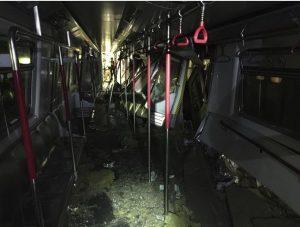地铁发生相撞意外,幸好没有人重伤或死亡