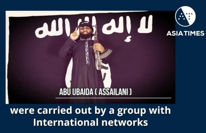 网上流传和IS有关的影片上,出现疑似施袭者。