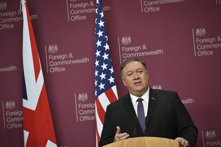 美国国务卿蓬佩奥。资料图片