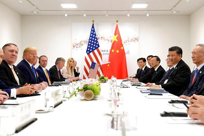 習近平與特朗普G20會面,商量解決中美國貿易磨擦問題。(AP圖片)