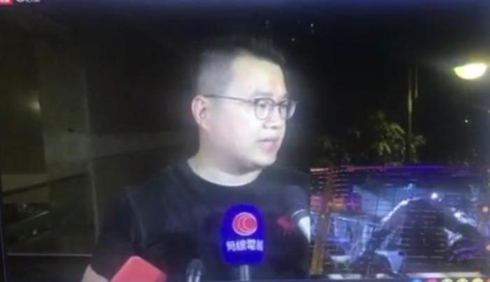 尹兆堅指控警察打人。