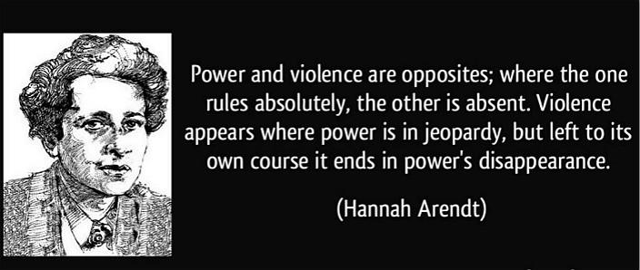政治哲學家漢娜·鄂蘭就有關政治暴力的金句。