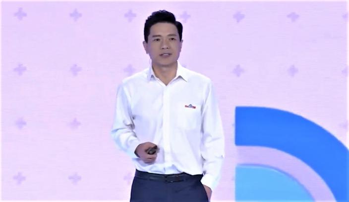 百度創辦人李彥宏主持「百度 AI開發者大會」。(網上截圖)