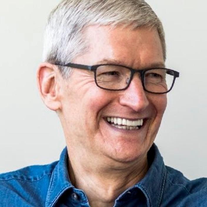 蘋果CEO庫克開拓中國、韓國市場有功。(Twitter圖片)