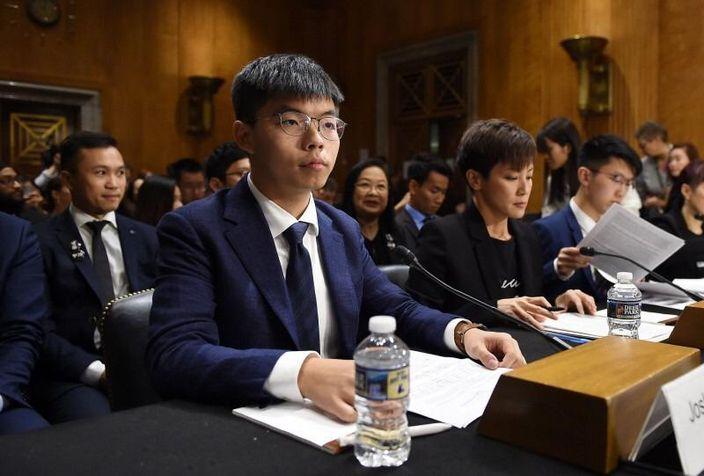 黃之鋒何韻詩出席周二出席美國聽證會,網上圖片。
