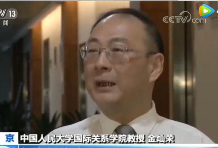 人民大學教授金燦榮。央視截圖