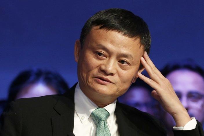 马云的初心是改变落后的中国。(资料图片)