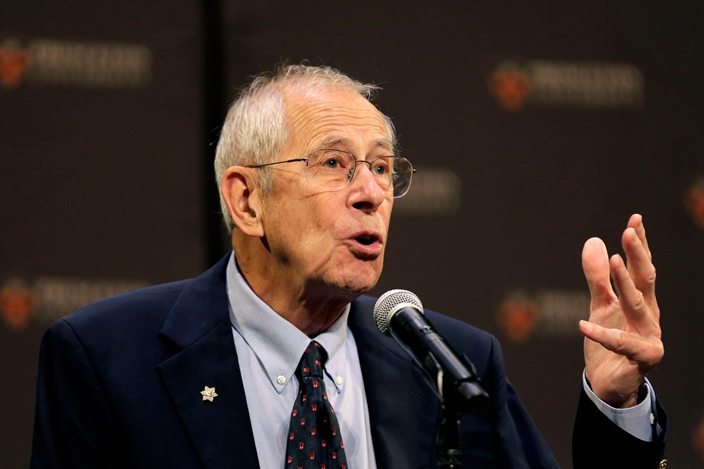 今屆諾貝爾物理學獎得主,美國物理宇宙學家皮布爾斯。(AP圖片)