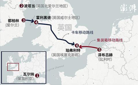 肇事冷凍貨櫃車的路線及時間表。網上圖片