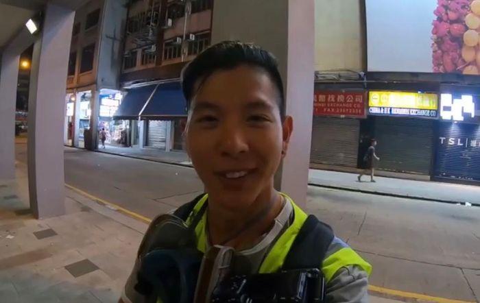 Toby Guu親身來香港觀察,還制止示威者打人。