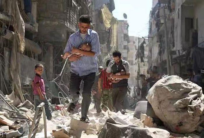 敍利亞變成廢墟。
