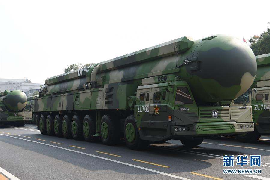東風41導彈射程達15,000公里,可以射擊地球上任何一個目標,幅蓋美國全境。新華網圖片