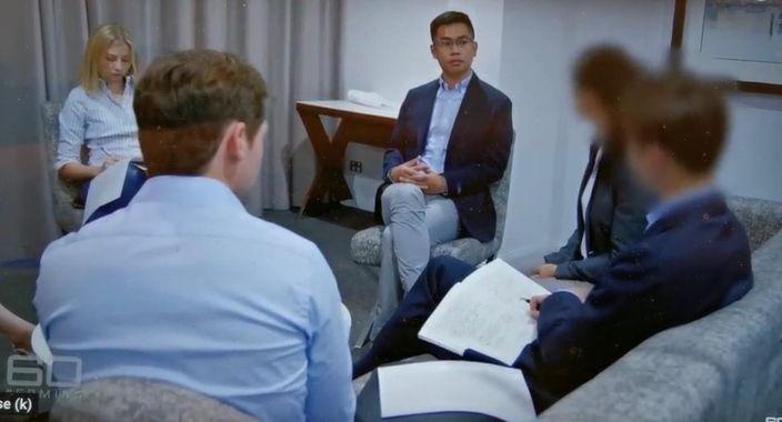 王立強接受澳洲媒體訪問,不懂英文。