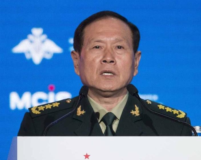中國國防部長魏鳯和。(AP圖片)