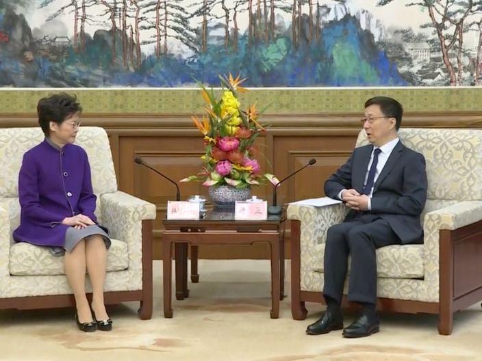 韓正和林鄭會面。