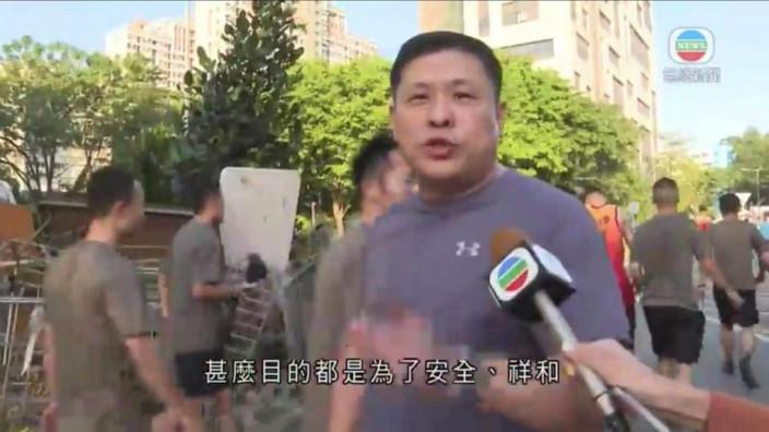 解放軍接受訪問。無綫片段截圖