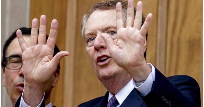 美国贸易谈判代表莱特希泽。AP图片