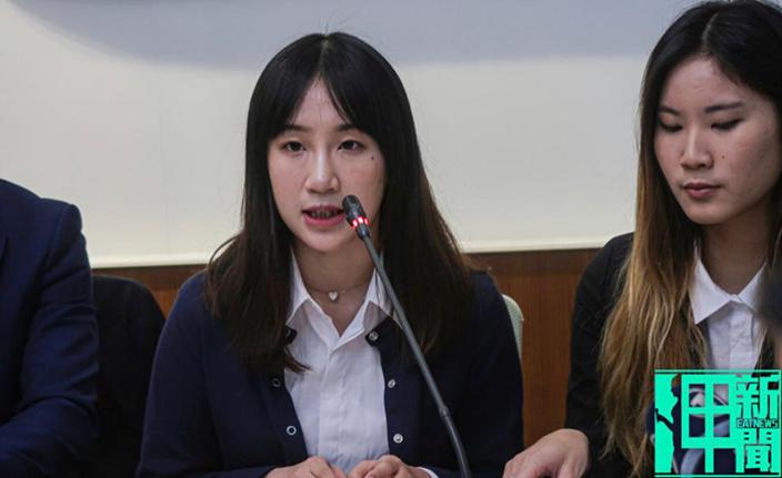 岭南大学学生会副会长梁兆玉揭露蔡英文政府对收容来台避难港生,就读台湾境内学校竟是无学籍也无学分。呷新闻图片