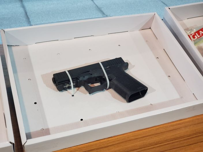 警方检获的 Glock 手枪。