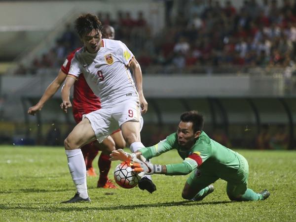 2015年世界盃外圍賽,香港兩度逼和中國,令後者無法出線。China Daily圖片