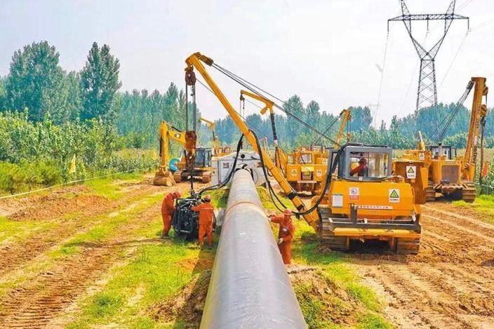 """""""西伯利亚力量""""天然气管道在俄国境内的状况。"""