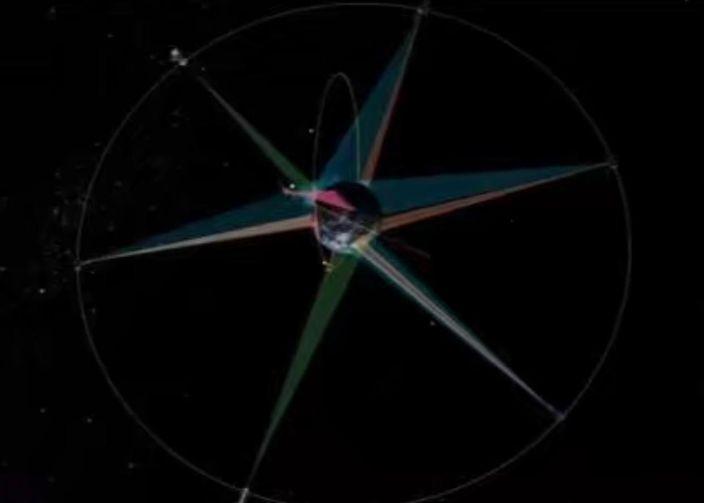 美國衛星捕捉到伊朗導彈發射。
