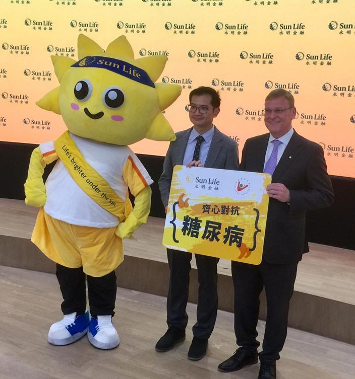 永明金融與香港糖尿聯會主席胡裕初醫生合作,推廣關於糖尿病知識。